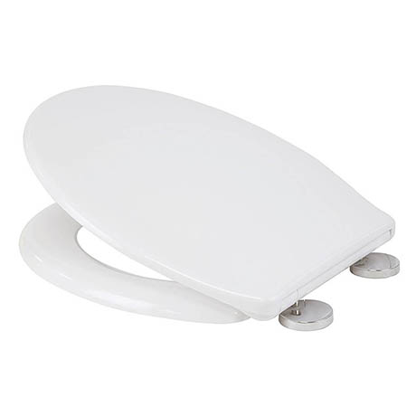 Croydex Flexi-Fix Constance White Anti-Bacterial Toilet Seat with Soft Close and Quick Release - WL6