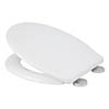 Croydex Flexi-Fix Constance White Anti-Bacterial Toilet Seat with Soft Close and Quick Release - WL601722H profile small image view 1