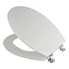 Croydex Flexi-Fix White Quartz Effect Anti-Bacterial Toilet Seat - WL601822H profile small image view 1