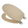 Croydex Flexi-Fix Dorney Sandstone Effect Anti-Bacterial Toilet Seat - WL601915H profile small image view 1