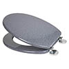 Croydex Flexi-Fix Dove Granite Effect Anti-Bacterial Toilet Seat - WL601931H profile small image view 1