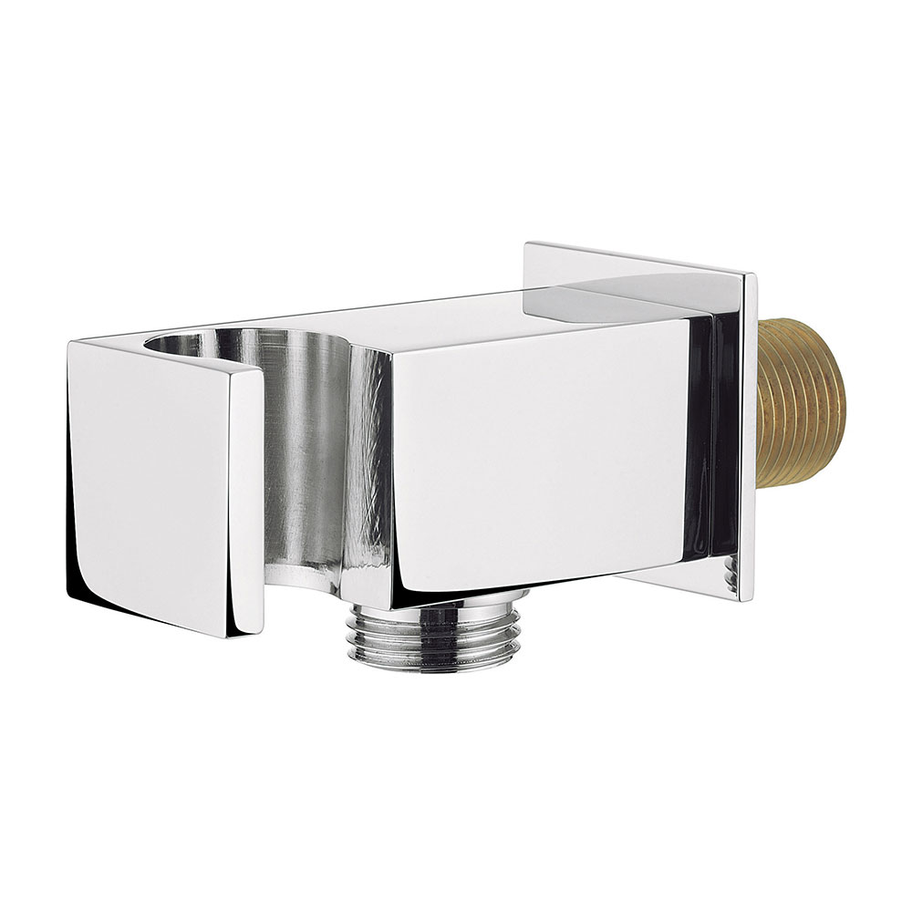 Crosswater - Square Wall Outlet with Handset Holder - WL962C Large Image
