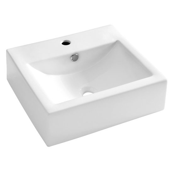 Bauhaus - Bolonia 1 Tap Hole Countertop or Wall Mounted Basin - 500 x 440mm Large Image