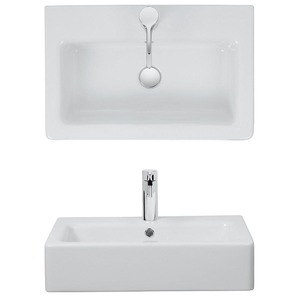 Bauhaus - Air 60 1 Tap Hole Countertop or Wall Mounted Basin - 600 x 390mm Profile Large Image