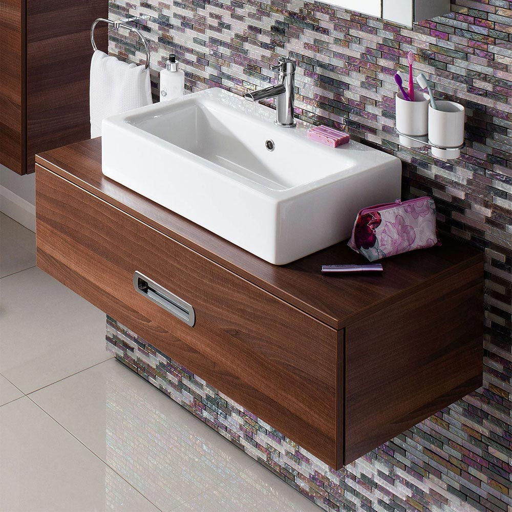 Bauhaus - Air 60 1 Tap Hole Countertop or Wall Mounted Basin - 600 x 390mm Feature Large Image