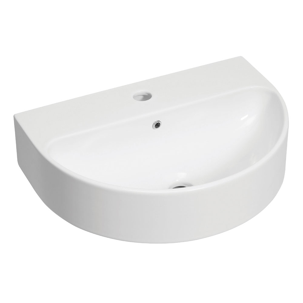 Bauhaus - Celeste 1 Tap Hole Countertop or Wall Mounted Basin - 500 x 370mm Large Image