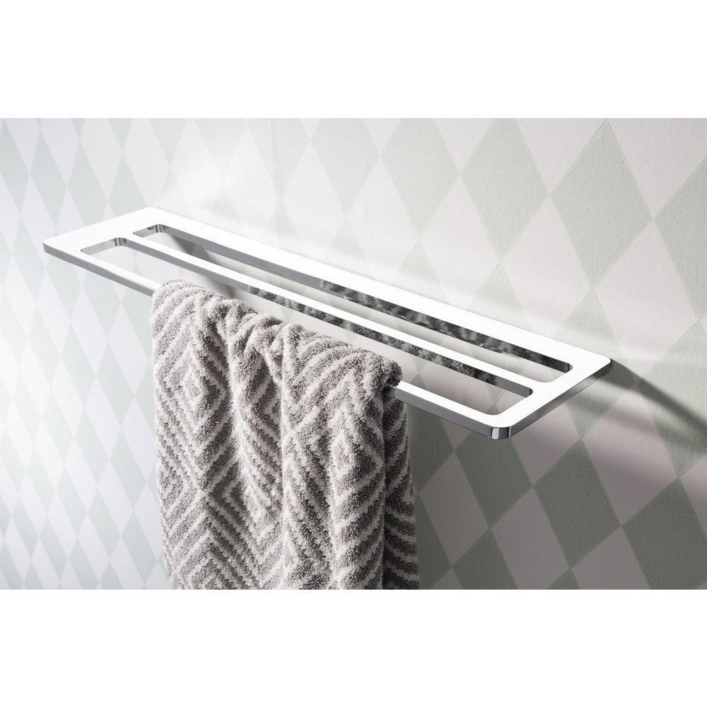 Crosswater - Wisp 600mm Chrome Double Towel Rail - WP028C profile large image view 2