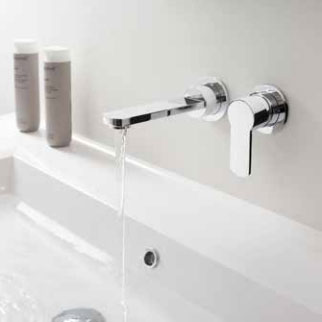 Crosswater - Wisp Wall Mounted 2 Hole Set Basin Mixer - WP120WNC Profile Large Image