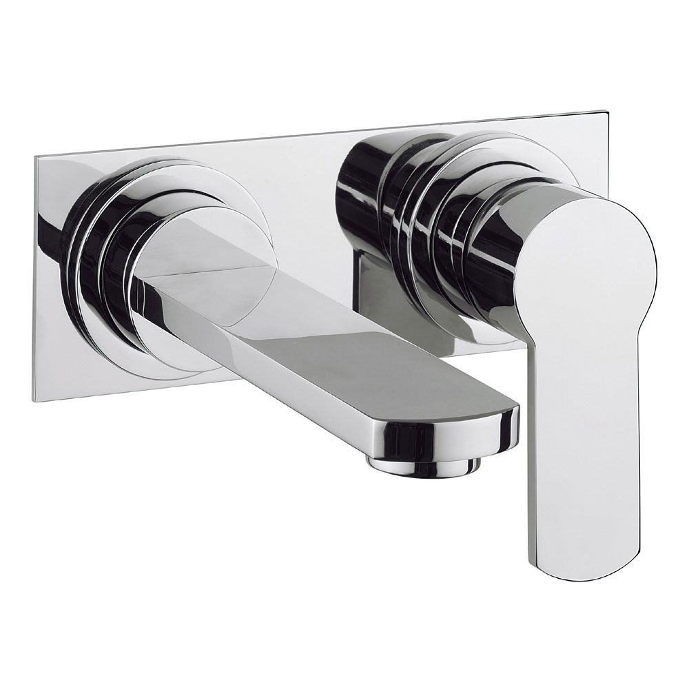 Crosswater - Wisp Wall Mounted 2 Hole Set Basin Mixer with Back Plate - WP121WNC profile large image view 1