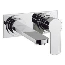Crosswater - Wisp Wall Mounted 2 Hole Set Basin Mixer with Back Plate - WP121WNC Medium Image