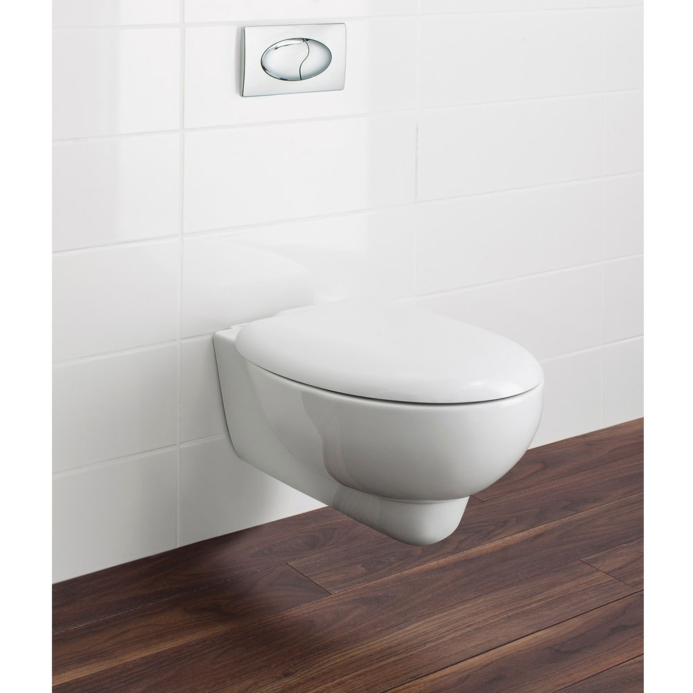 Bauhaus - Wisp Wall Hung Pan with Soft Close Seat profile large image view 4