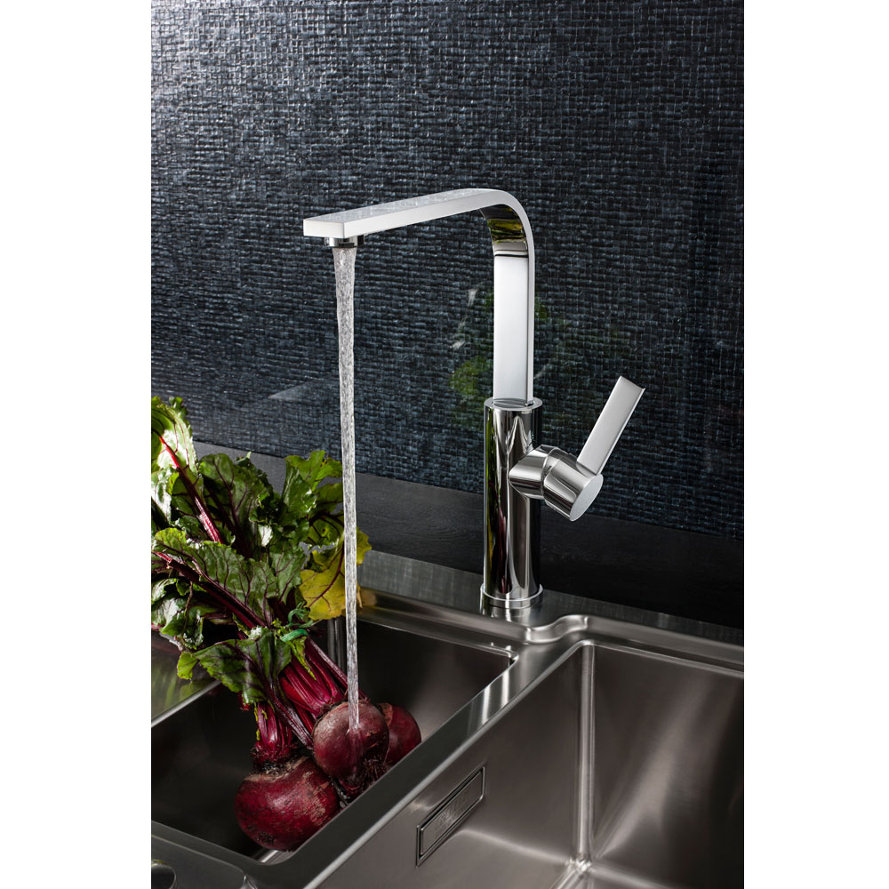 Crosswater - Cucina Wisp Side Lever Kitchen Mixer - Chrome - WP714DC Feature Large Image