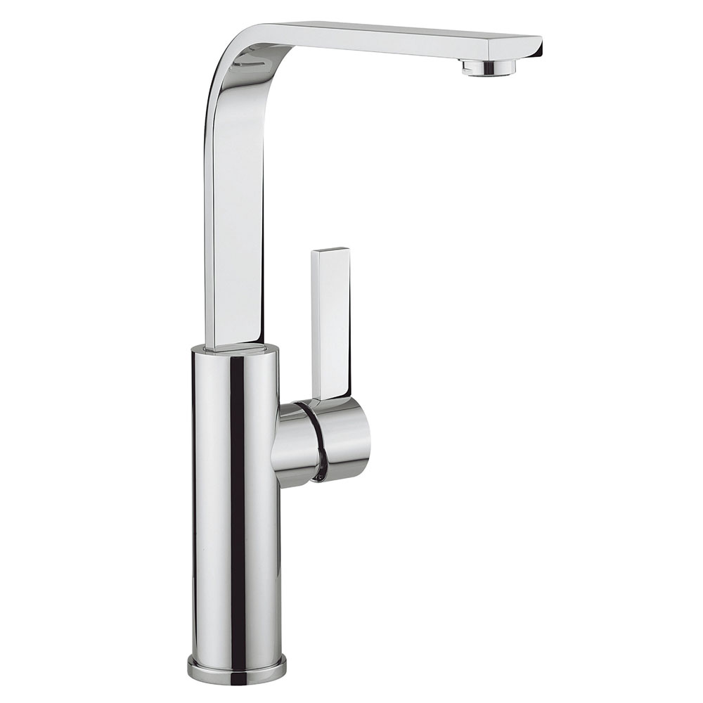 Crosswater - Cucina Wisp Side Lever Kitchen Mixer - Chrome - WP714DC Large Image