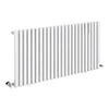 Alaska Modern 600 x 1200 Horizontal White Square Radiator 24 Tubes profile small image view 1