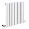 Alaska Modern 600 x 600 Horizontal White Square Radiator 12 Tubes profile small image view 1