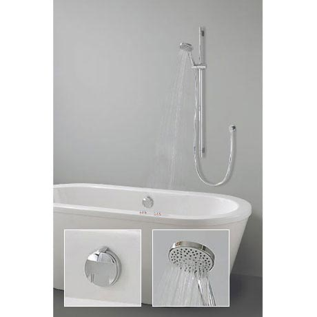 Crosswater Digital Wraith Duo Bath with Slide Rail Kit and Standard Bath Filler