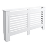 Carlton H820 x W1520mm White Radiator Cover profile small image view 1