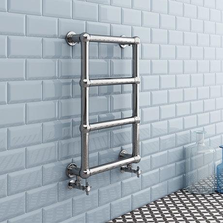 Inglewood Traditional 748 x 498mm Chrome Heated Towel Rail