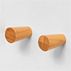 Wooden Robe Hooks Bamboo (Pack of 2) profile small image view 1
