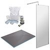 1400 x 900 Wet Room Pack - Chrome profile small image view 1