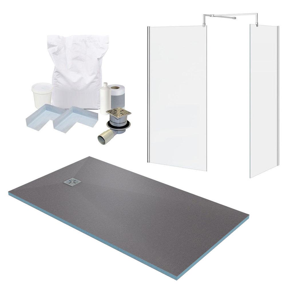 1600 x 900 Wet Room Enclosure Pack - Chrome