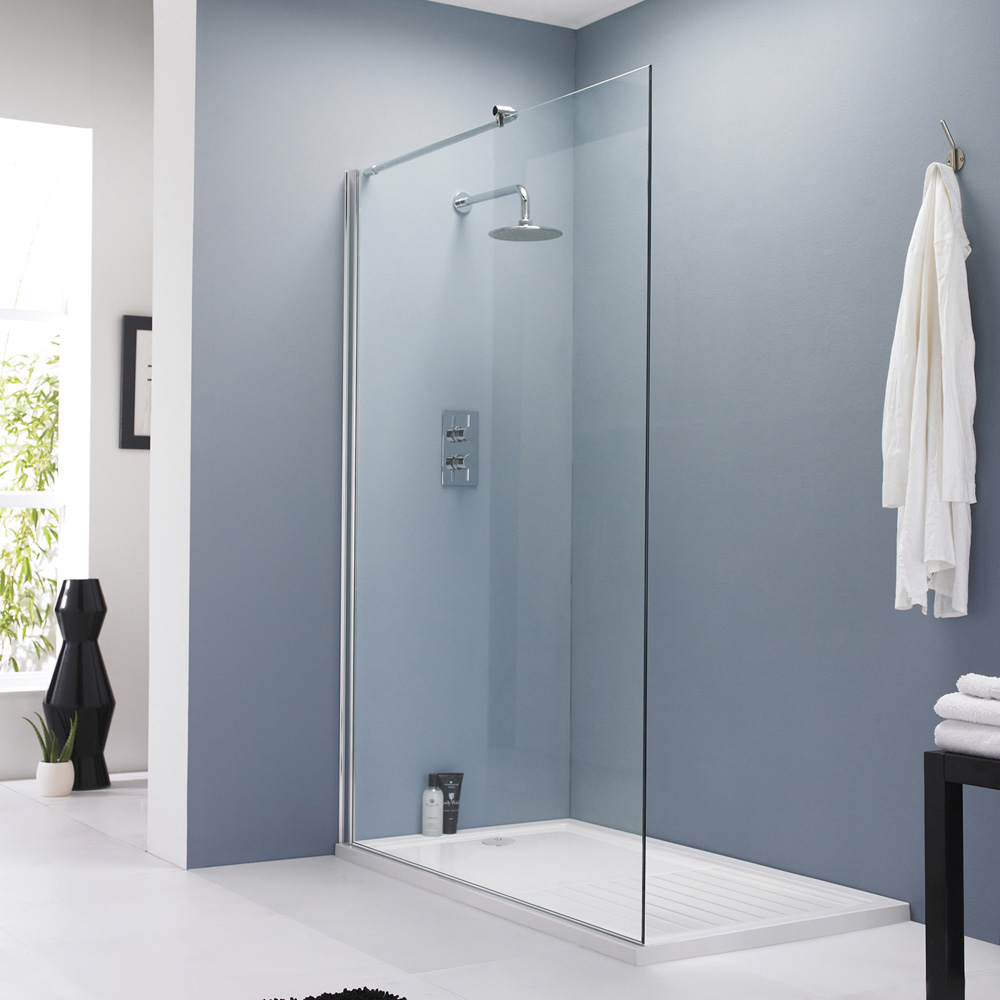 Hudson reed wet room screen at victorian plumbing uk for Wet room shower screen 400mm