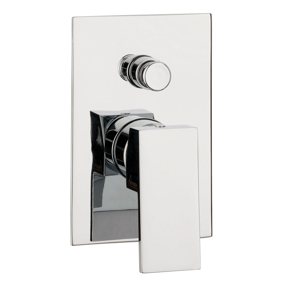Crosswater - Water Square Concealed Manual Shower Valve with Diverter - WS0005RC profile large image view 1