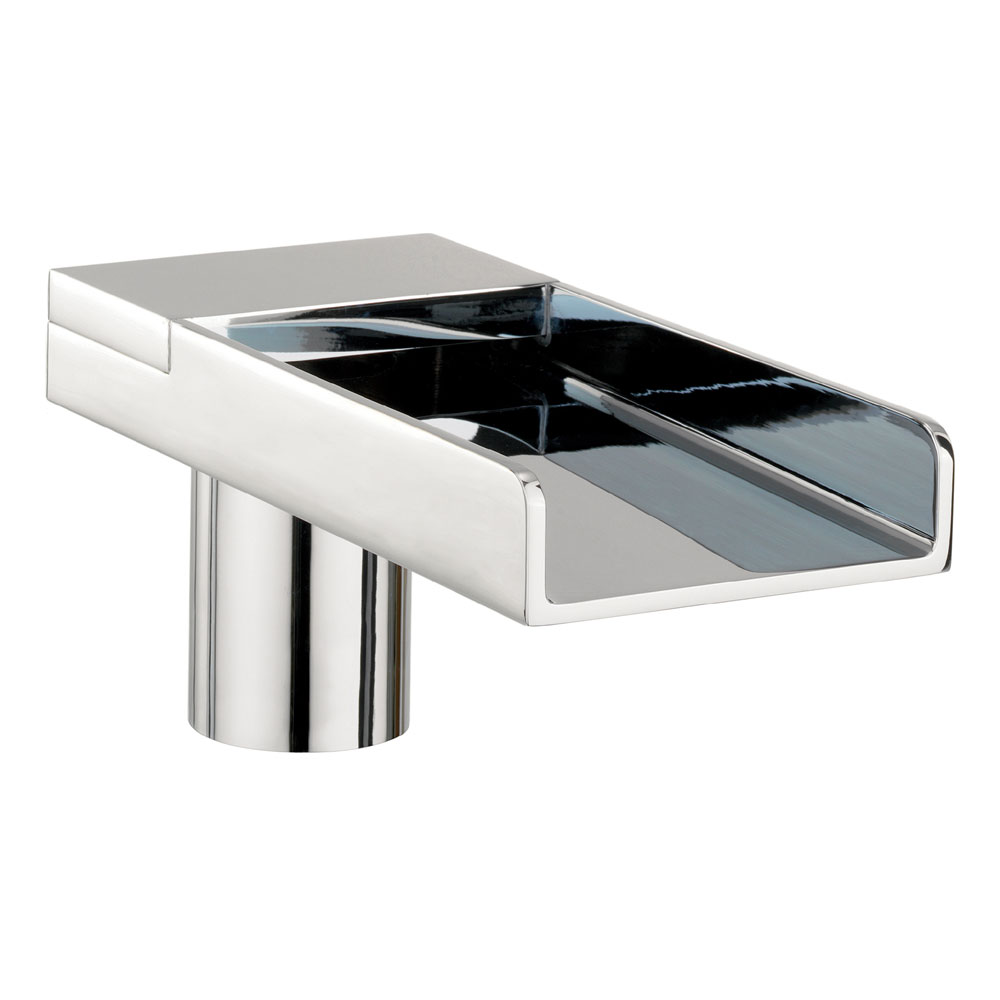 Crosswater - Water Square Deck Mounted Bath Spout - WS0370DC Large Image