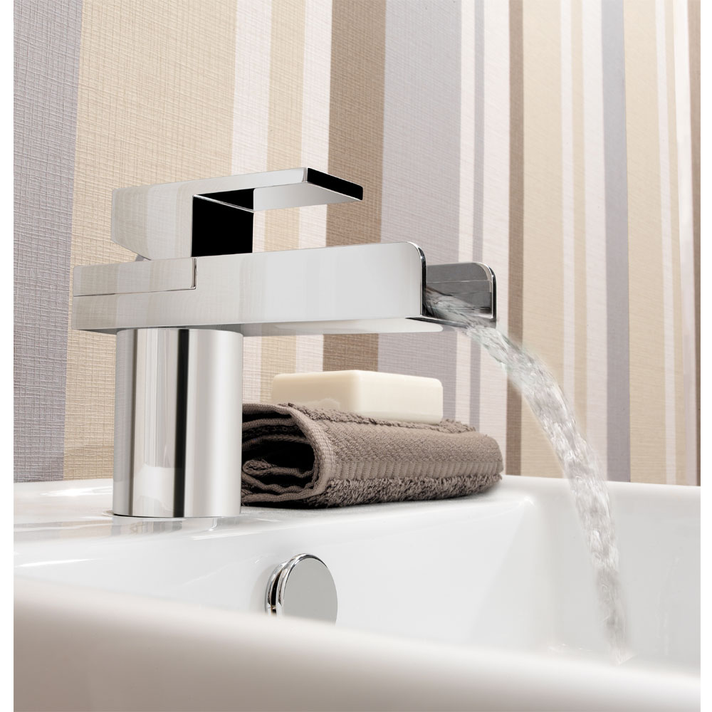 Crosswater - Water Square Monobloc Basin Mixer Tap - WS110DNC profile large image view 2