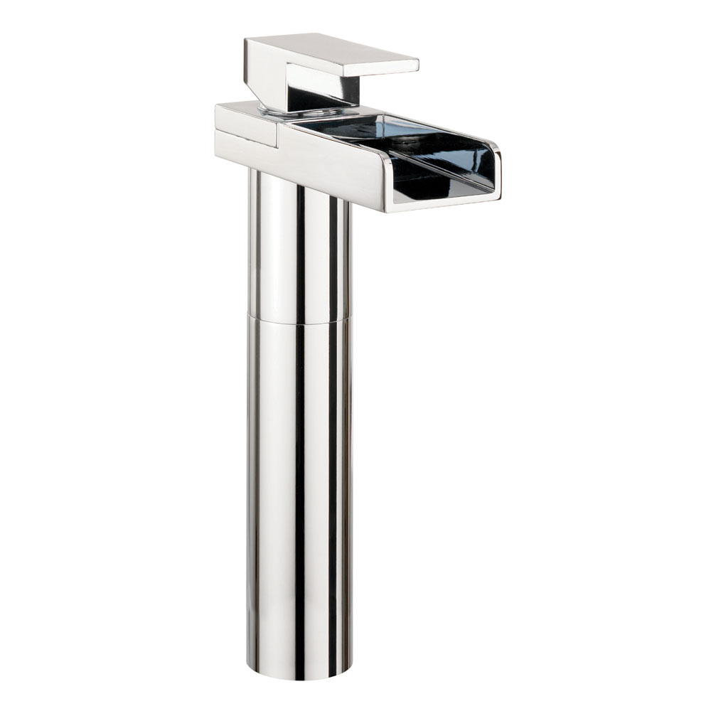 Crosswater - Water Square Tall Monobloc Basin Mixer Tap - WS112DNC Large Image