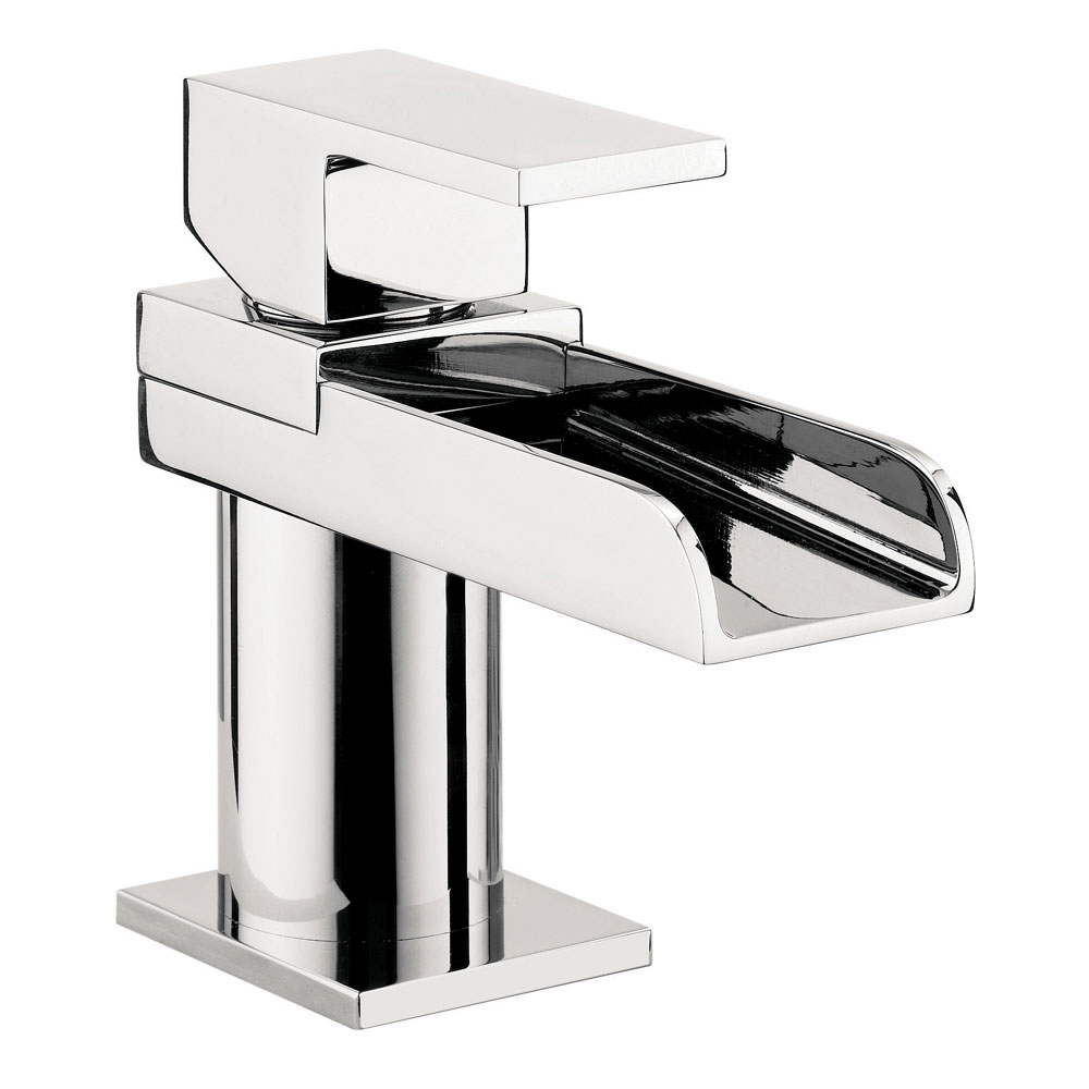 Crosswater - Water Square Mini Monobloc Basin Mixer Tap - WS114DNC profile large image view 1