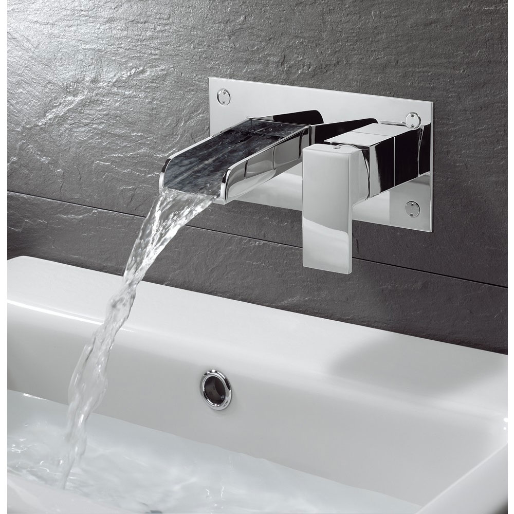 Crosswater - Water Square Wall Mounted 2 Hole Set Basin Mixer - WS121WNC Profile Large Image