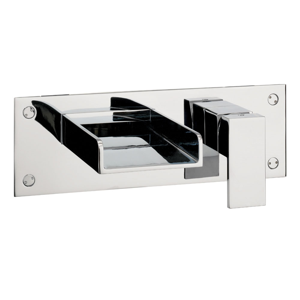 Crosswater - Water Square Wall Mounted 2 Hole Set Bath Filler - WS321WC Large Image