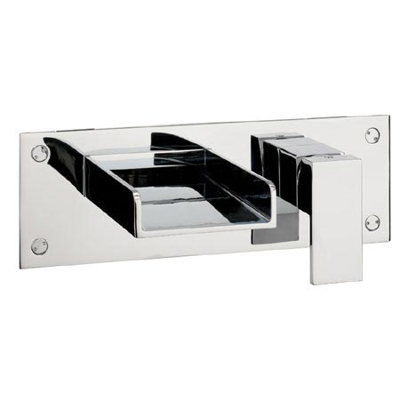 Crosswater - Water Square Wall Mounted 2 Hole Set Bath Filler - WS321WC