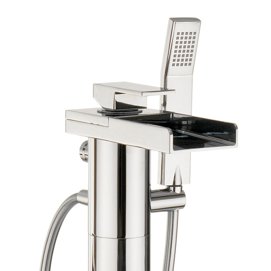 Crosswater - Water Square Floor Mounted Freestanding Bath Shower Mixer - WS415FC profile large image view 2
