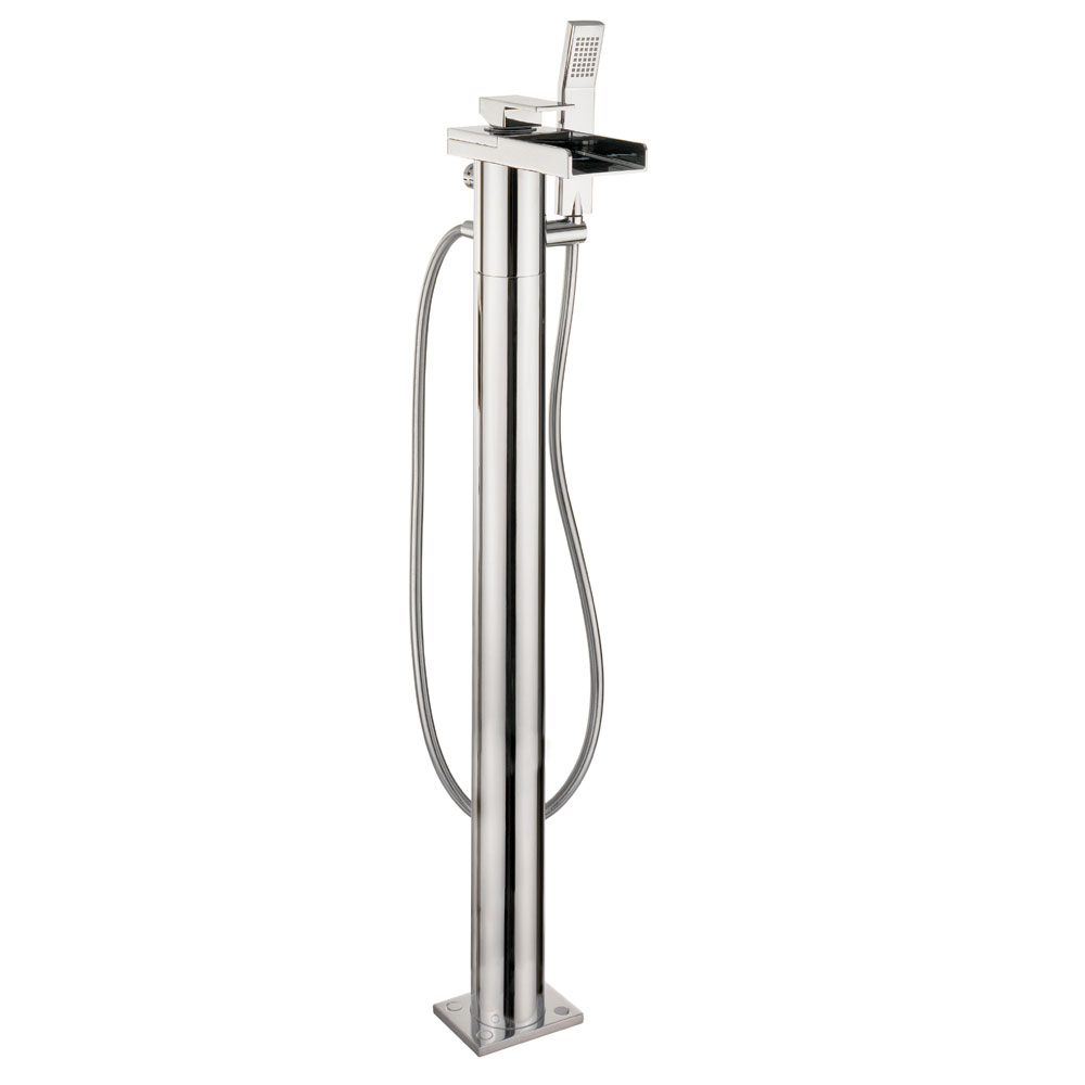 Crosswater - Water Square Floor Mounted Freestanding Bath Shower Mixer - WS415FC Large Image