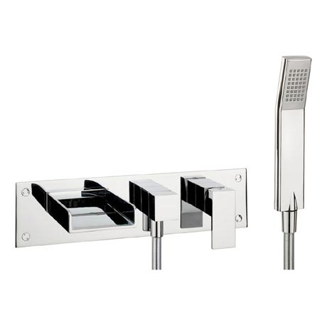 Crosswater - Water Square Wall Mounted 3 Hole Bath Shower Mixer - WS432WC