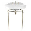 Heritage Abingdon Claverton Basin & Washstand - Vintage Gold profile small image view 1