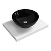 600 x 450mm White Shelf with Round Black Ceramic Basin profile small image view 1