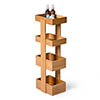 Freestanding Wooden Storage Caddy Bamboo profile small image view 1