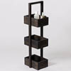 Freestanding Wooden Storage Caddy Dark Oak profile small image view 1