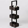Freestanding Wooden Storage Caddy Dark Oak profile small image view 1