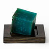Wooden Soap Dish Dark Oak profile small image view 1