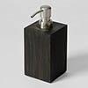 Wooden Soap Dispenser Dark Oak profile small image view 1