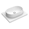 600 x 450mm White Shelf with Nouvelle Semi-Oval Basin profile small image view 1
