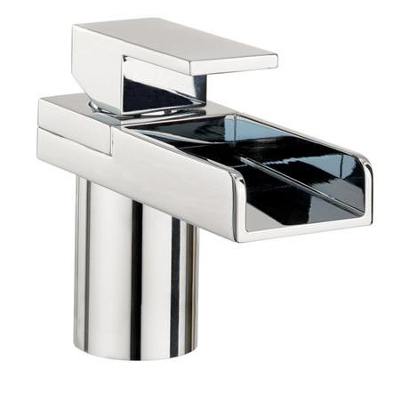 Crosswater - Water Square Lights Monobloc Basin Mixer w/ Lights - WSX110DNC