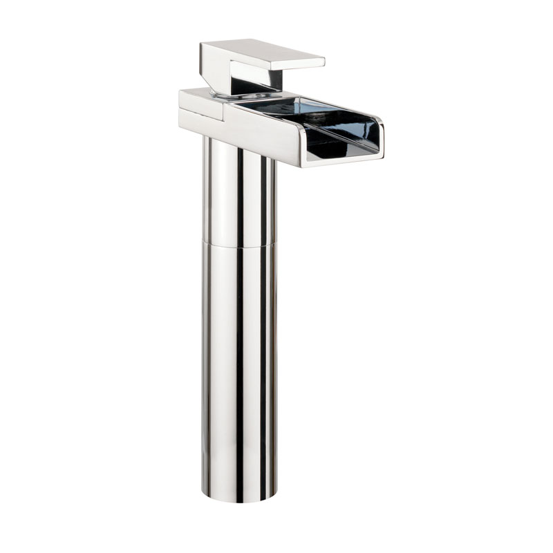 Crosswater - Water Square Lights Tall Monobloc Basin Mixer w/ Lights - WSX112DNC Large Image