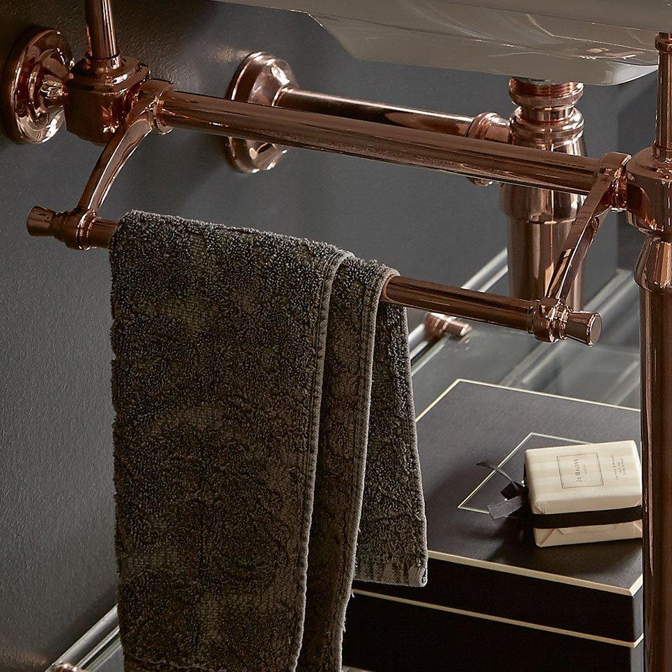 Heritage Abingdon Washstand Towel Rail - Chrome - WTABUNI  Profile Large Image