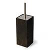 Wooden Toilet Brush & Holder Dark Oak profile small image view 1