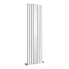Metro Vertical Radiator with Mirror - White - Double Panel (H1800 x W499mm) profile small image view 1